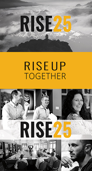 Rise 25 Banner